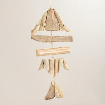 Driftwood Fish Bones Hanging Decor
